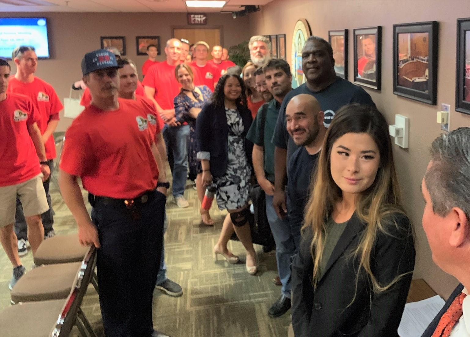 Prop. B San Diego Unions Attend the City Council Vote